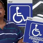Motorists using fake OKU stickers anger disabled drivers