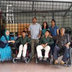 Damai Disabled Person Association donated two motorized wheelchairs to two disabled student from Ipoh whom suffering from muscular dystrophy