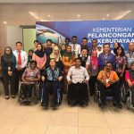 Disability Awareness Training [DAT] to nearly 26 numbers tour guides organized by and at Ministry of Tourism and Culture (MOTAC) Malaysia